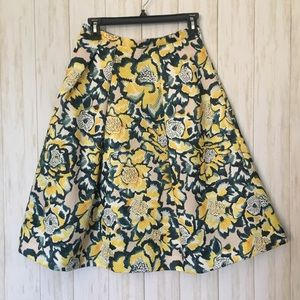H&M quilted circle skirt • watercolor florals